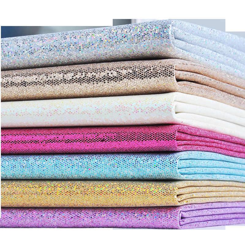 25 ซม.* 34 ซม.ตาราง PU Glitter หนังผ้าสังเคราะห์หนังสำหรับ DIY Handmade เย็บเสื้อผ้าอุปกรณ์เสริม