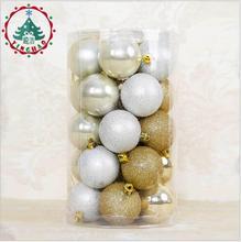 2017 Fashion 25pcs Xmas Decorative 6cm Ball Ornaments for Christmas Tree Decorations Balls Home Decor