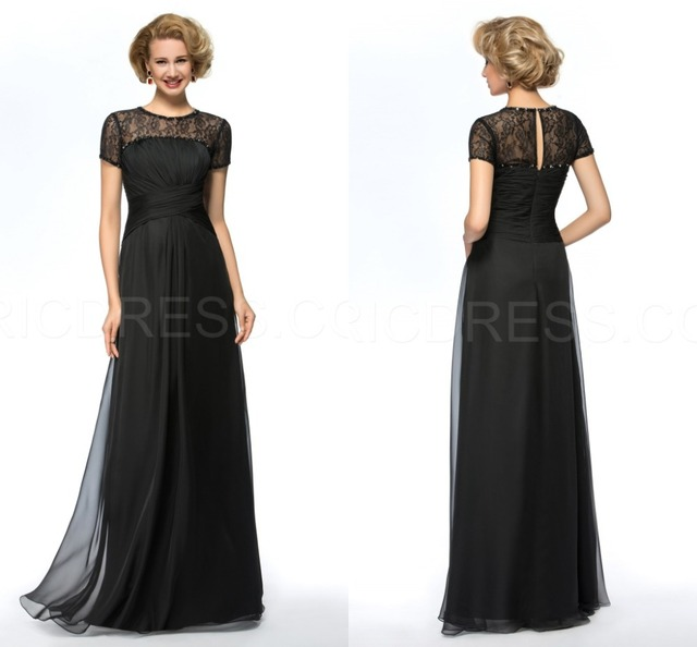 Short Sleeve Custom Made Plus Size Mother of the Bride Dresses ...