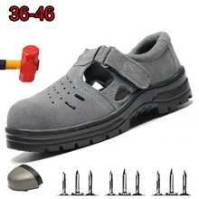 Summer Breathable Work Boots Anti-smashing Anti puncture Labor insurance Shoes Outdoor Non-slip Wear-resistant Safety Shoes