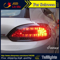 Free Shiping 12V 6000k LED Rear Light For VW Volkswagen Scirocco Taillight Lamps Auto Light Brake