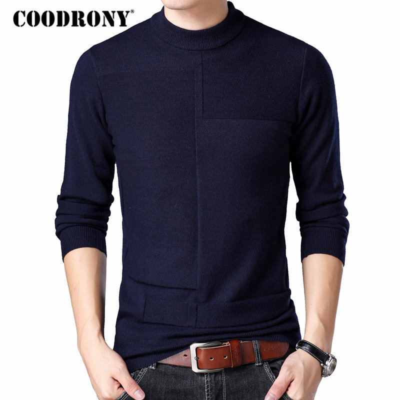 COODRONY Mens Turtleneck Sweaters 2018 Autumn Winter Thick Warm Pullover Men Cashmere Wool Sweater Men Casual Knitwear Pull 8171