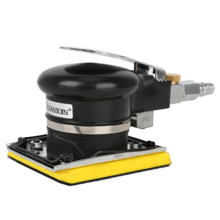 """Pneumatic Jitterbug Random Orbit Palm Sander 3""""x4"""" Rectangle Industrial-Grade 10000rpm Air Detail Sanders with Hook and Loop Pad 280w random orbit sander with 15 sheets of sandpaper dust exhaust and hybrid dust canister"""