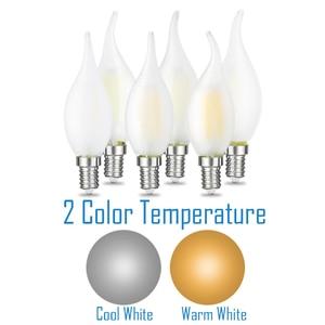 Image 2 - JCKing Dimmbare 2W 4W 6W Led Kerze E12 E14 110V 220V Vintage Retro Dimmen Matt glühlampen Lampe Für Kronleuchter Beleuchtung