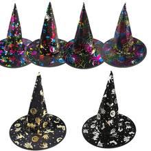 Puntelli cappello Casa Più Ampia Affidabile Per Gli Adulti Delle Donne Nero Cappello  della Strega Per Halloween Costume di . 7006f6500833