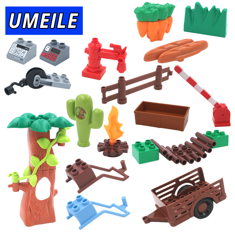 UMEILE Brand Farm Life Series Large Particles DIY Brick Building Big Blocks Kids Education Toy Diy Block Compatible with Duplo free shipping happy farm set 1 diy enlighten block bricks compatible with other assembles particles