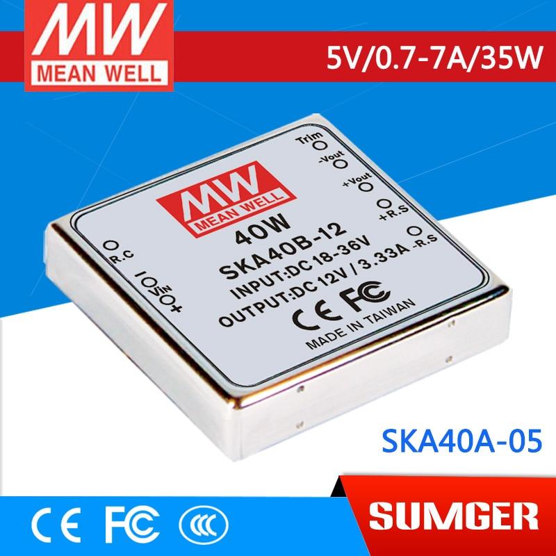 1MEAN WELL original SKA40A-05 5V 7A meanwell SKA40 5V 35W DC-DC Regulated Single Output Converter стул кедр адмирал ska 01