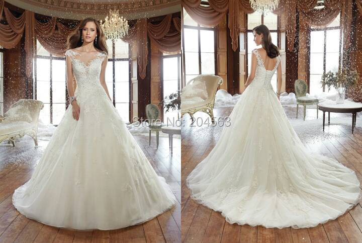 Wedding Dresses  Free Shipping : Free shipping a line wedding dress bride custom size color