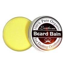 Lanthome новый 100% натуральный масло для бороды и бальзам усы воск для укладки, пчелиный воск увлажняющий сглаживание Господа ухода за бородой(China (Mainland))