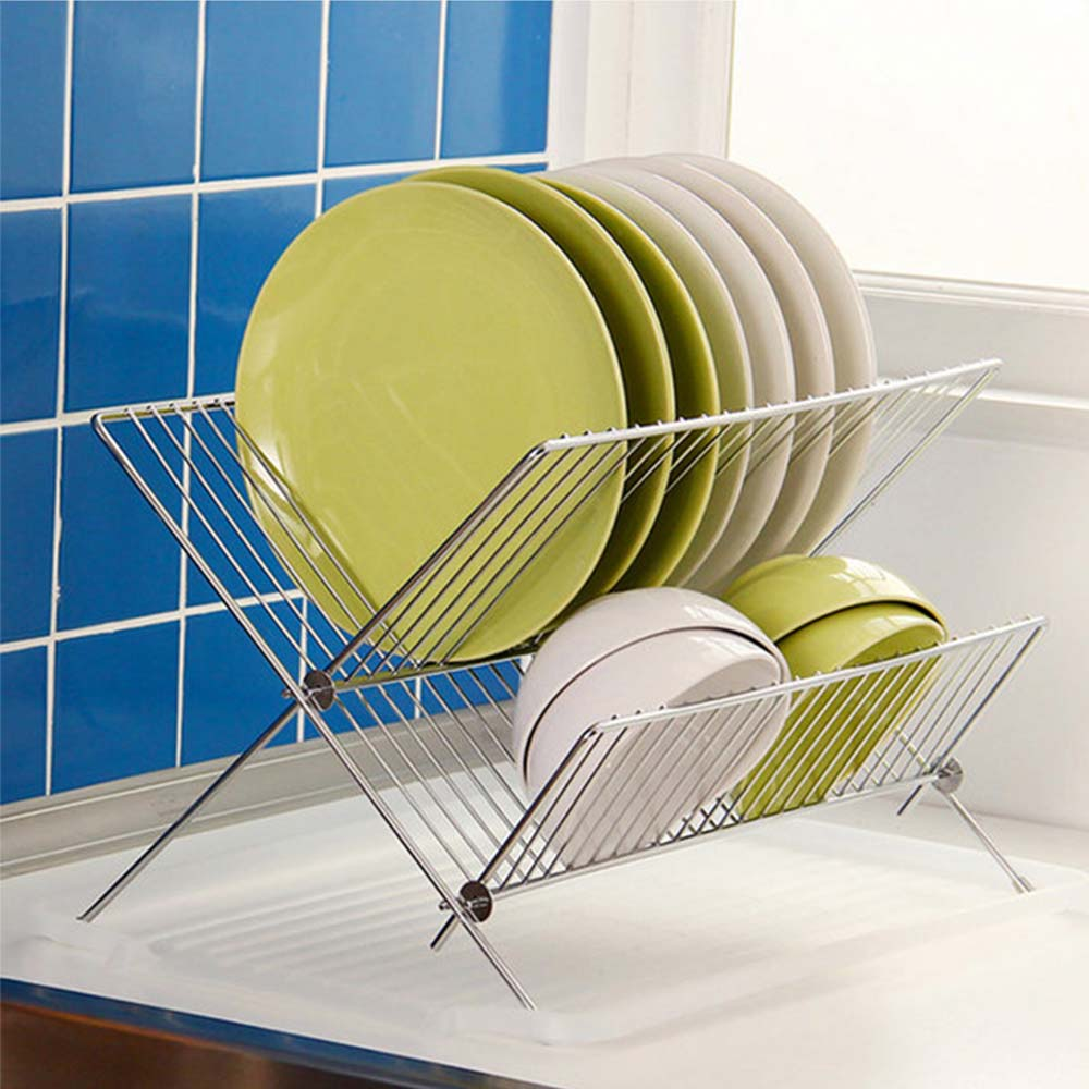 1 PC Stainless Steel Folding Cutlery Stand Shelf Dish Drainer Rack Bowl Drying Rack Kitchen Dish Storage Rack1 PC Stainless Steel Folding Cutlery Stand Shelf Dish Drainer Rack Bowl Drying Rack Kitchen Dish Storage Rack