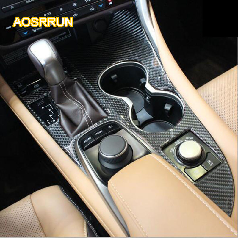 AOSRRUN Carbon fiber carbon fiber glass vover control gear panel modified special suitable for Lexus RX200T RX450h cover