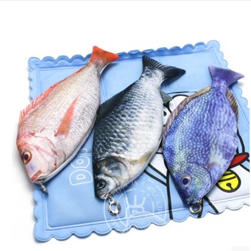 Pencil box fish pencil case creative material escolar for Fish pencil case