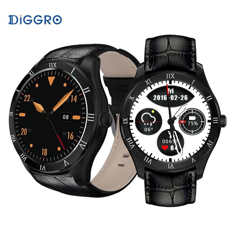 Diggro DI05 Bluetooth 4.0 Smart Watch SIM Card WIFI GPS Calling Heart Rate Monitor Weather Health Reminder 3G Smartwatch Phone fashion s1 smart watch phone fitness sports heart rate monitor support android 5 1 sim card wifi bluetooth gps camera smartwatch