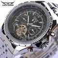 Homens Relógio Marca de luxo JARAGAR Relógio Mecânico Automático Tourbillon Relógio Calendário de Aço Inoxidável Relógio À Prova D' Água Relogio