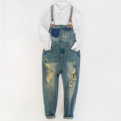 hip hop streetwear swag pants Spring Fashion mens loose jean overalls Casual bib jeans for men Male Ripped denim jumpsuit 042901  2016 spring autumn fashion brand mens slim jeane overalls casual bib jeans for men male ripped denim jumpsuit