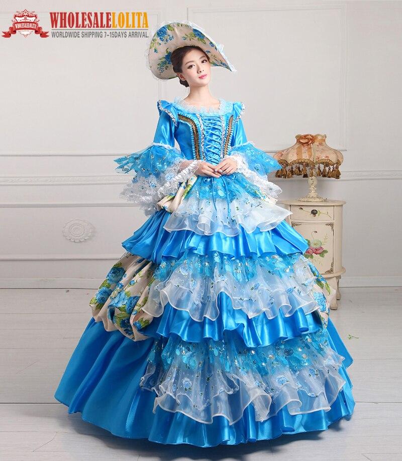 18e Eeuw Hof Jurk Rococo Toga/marie Antoinette Toga/nataya Jurken/prinses Jurken Custom Made In Maten Xs-3xl