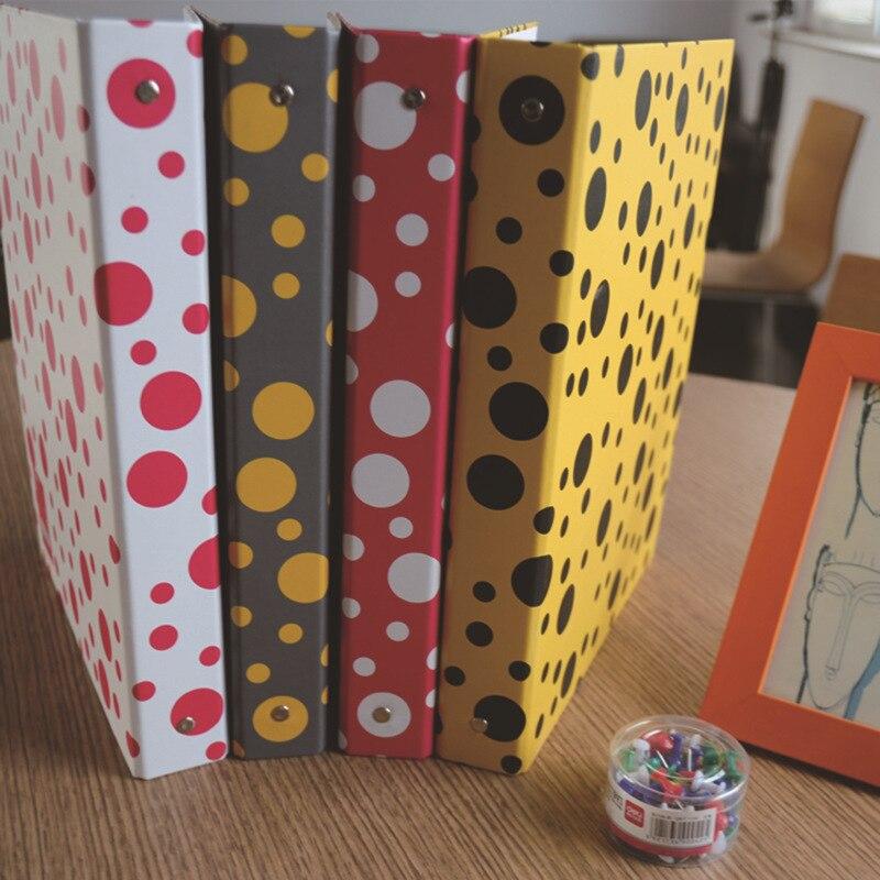 Coloffice New Impression A4 Paper Color Dot Folder Four-color Business Office Folder Data Storage Folder New Filing Product 1PC