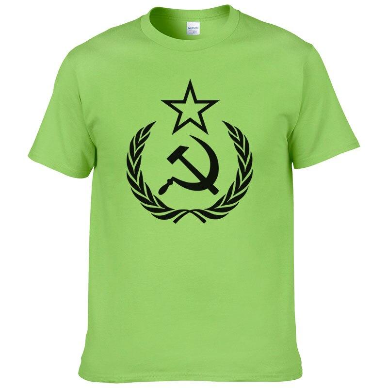 2019 nouveauté hommes/femmes T-Shirt CCCP USSR soviétique russe KGB marteau faucille armée T-Shirt UH
