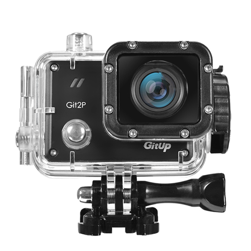 GitUp Git2P Pro 2K WiFi Action Camera 170 Degree Lens Sport DV Support remote shutter and External Microphone Remote Control free shipping gitup git2 16m ultra 2k wifi dv sports action helemet camera 18 in 1 accessories