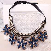 Collar Blue Jewelry Handmade