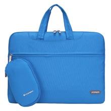 15 inch Laptop Bag Notebook Shoulder Messenger Bag Men Women Handbag Sleeve (Blue)