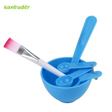 Beauty Health - Skin Care Tool - 4 In 1 DIY Facial Mask Mixing Bowl Brush Spoon Stick Tool Face Care Tools Set Q70920