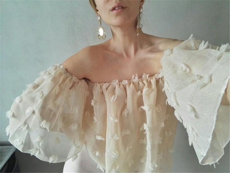 HTB14A3TRXXXXXXaXpXXq6xXFXXXi - Sexy Off Shoulder Women Puff Sleeve 3D Floral