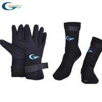 Yonsub 3mm Neopren Tauchen Handschuhe + 3mm tauchen socken Verhindern Kratzer Erwärmung Schnorcheln Ausrüstung