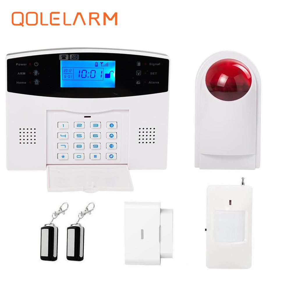 Spanish French Russian Italian Czech voice Wireless GSM Alarm system Home security alarm systems wireless outdoor strobe siren russian french spanish czech italian voice gsm alarm systems security home door window alarm wireless siren door security