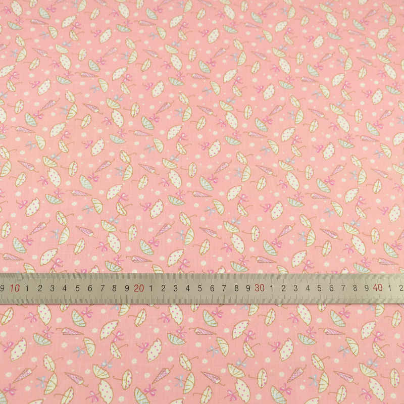 2016 New Arrivals Pink Printed Cotton Fabric Cartoon Umbrella Design Pre-cut Fat Quarter Patchwork Tissue Crafts Dolls's DIT CM