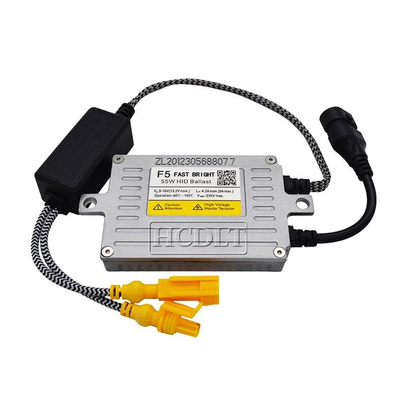 HCDLT AC 12V 55W Reator DLT F5T HID Ballast Retrofit For Car Headlight Bulb Kit Xenon H1 H4 H7 H11 HB4 55W F5 Fast Start Ballast (10)