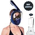 2019 volle Gesicht Schnorcheln Masken Panorama View Anti-fog Anti-Leck Schwimmen Schnorchel Scuba Tauchen Maske GoPro kompatibel