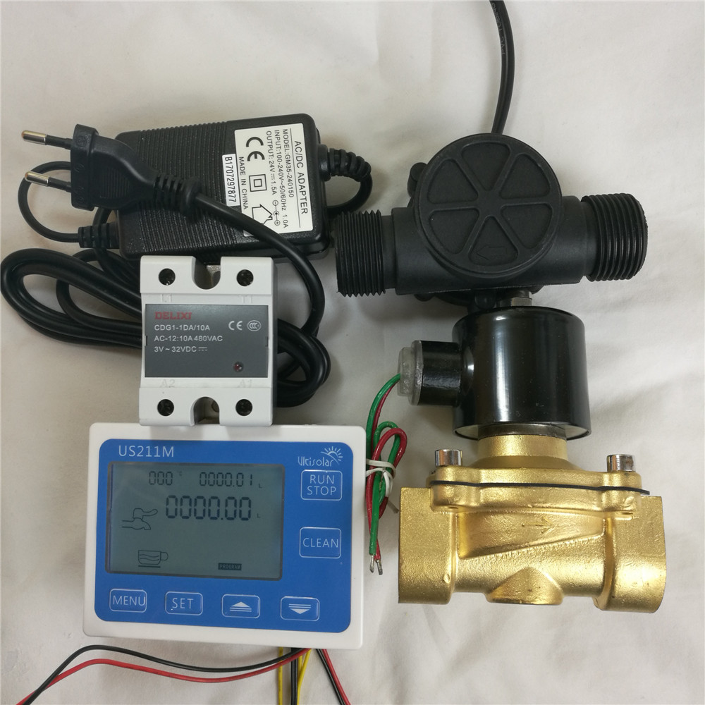 US211M Dosage Controller 1 inch Set with USN HS10TB sensor and relay and solenoid valve