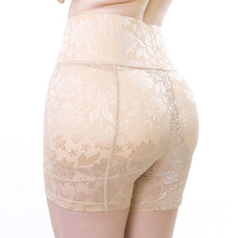 Womens Hip Booster Plus Size Fake Butt Lifter Underpants High Waist Booty Enhancer Lace Buttock Briefs Safety Padded Panties