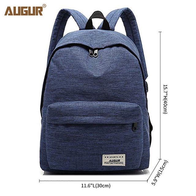 4eb01d1f15ce AUGUR 2018 Women Backpack Laptop Fashion School Bags Oxford Waterproof  Backpacks For Girls Teenagers Rucksack Mochila