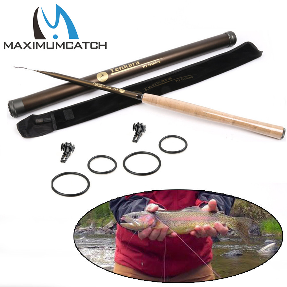 Maxcatch Telescoping Rod Tenkara Fly Rod 9/10/11 // 12 / 13FT Tenkara Rod med krokhållare Teleskopfiskefiske Rod
