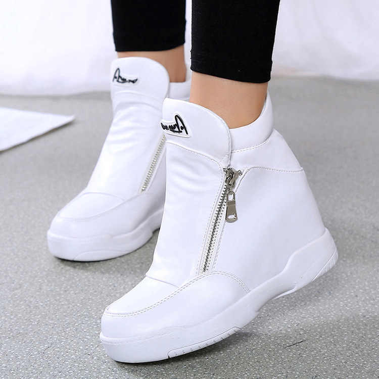Winter Autumn wedges women high heel snow boots short plush fur ankle boots Increased Internal female platform shoes M163