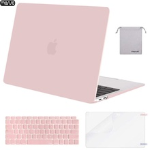 MOSISO 2019 New Laptop Case For MacBook Air 13 2018 with Keyboard Cover Clear Crystal Matte Hard for macbook A1932
