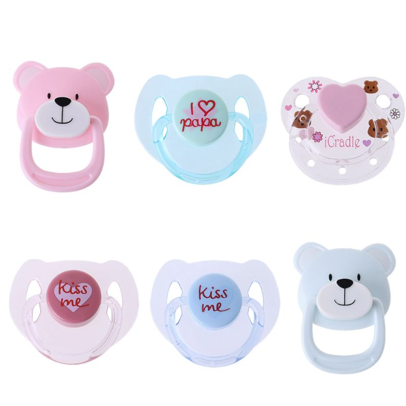 New 6 Styles Magnetic Pacifier Accessories For Reborn Baby Doll Supplies