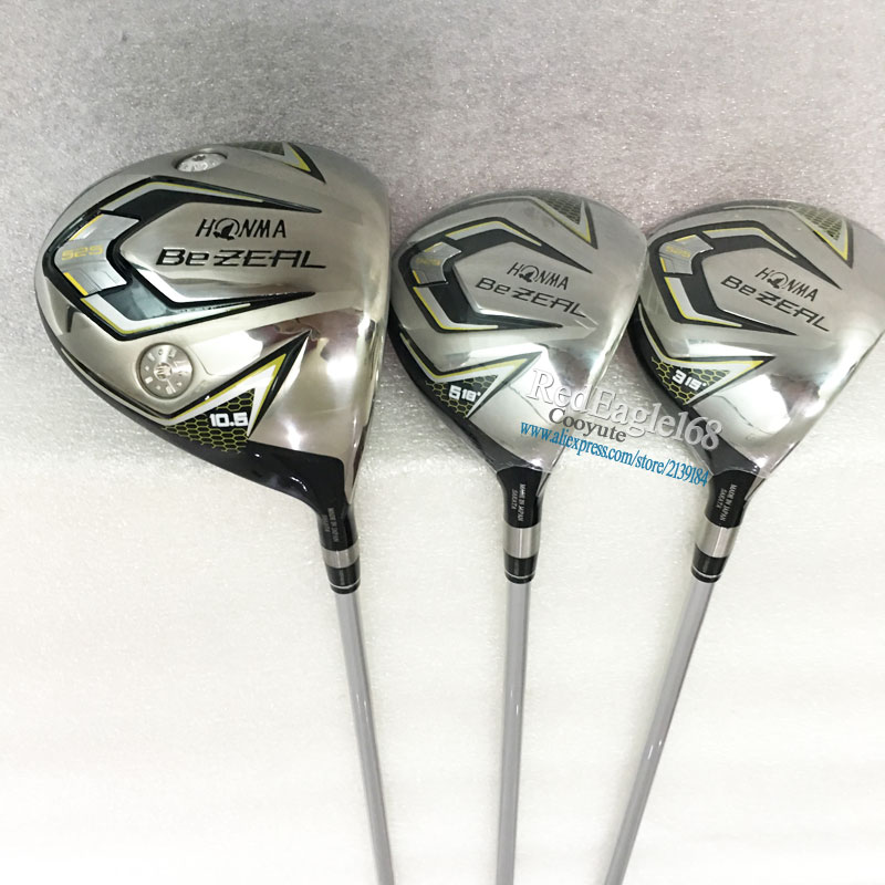 Cooyute New Golf Clubs HONMA BEZEAL 525 Golf Wood Set Driver Fairway Woods Clubs Graphite Shaft R Or S Golf Shaft Free Shipping