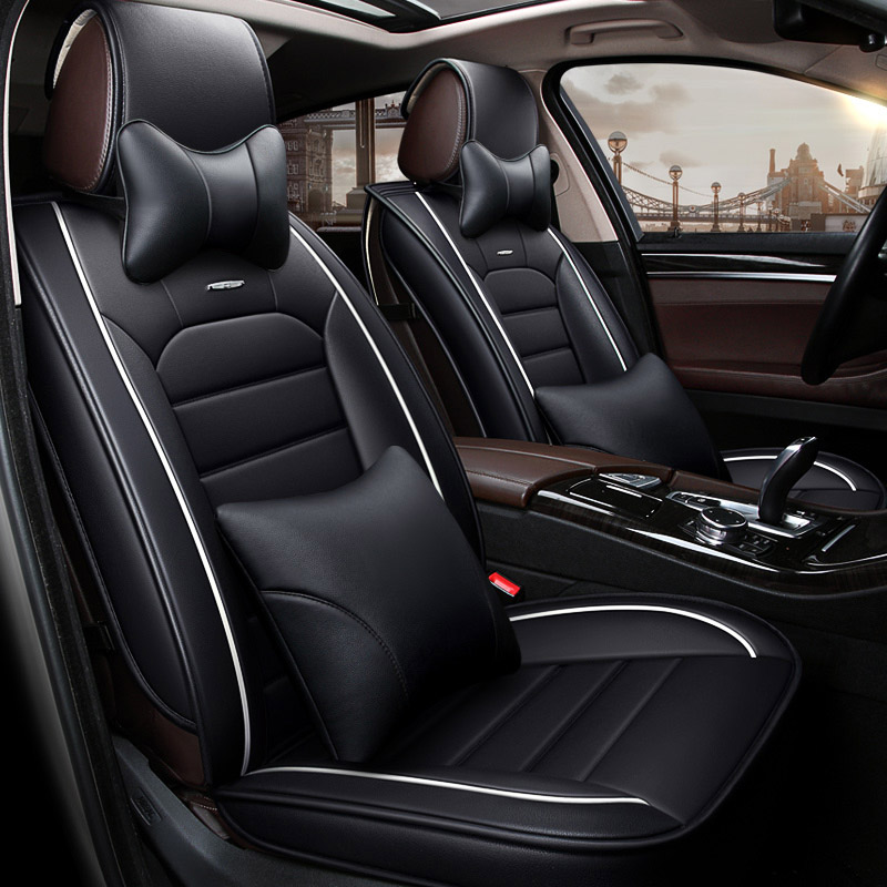 Leather Universal car seat cover auto seats covers for Mitsubishi outlander pajero pinin sagma haunter Buik Allure Regal Verano