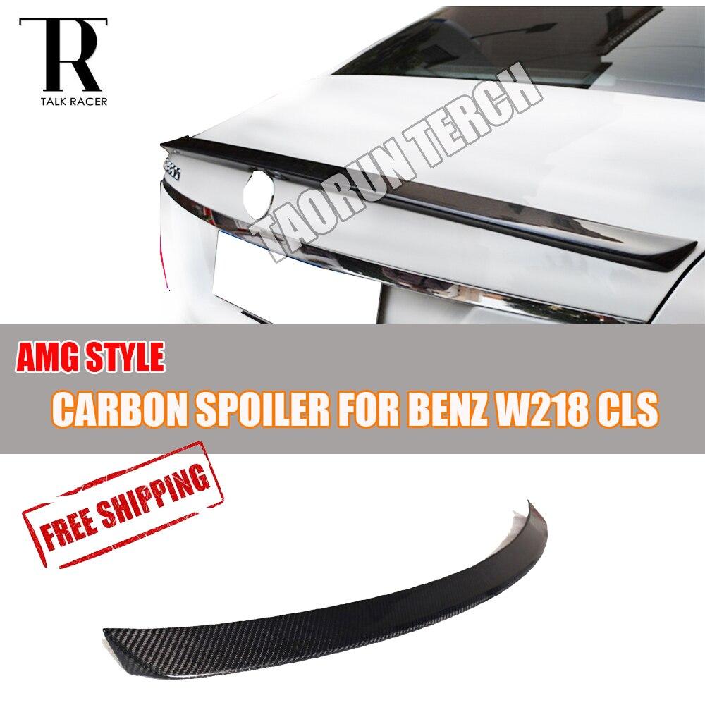 W218 Voiture-style Fiber De Carbone Arrière Aile Aileron pour Benz W218 CLS-Classe CLS300 CLS350 CLS500 CLS550 CLS63 AMG 2012-2016