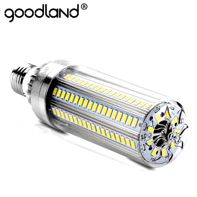 LED E27 maíz bombilla 50 W 35 W 25 W lámpara de LED 110 V 220 V LED Bombilla de aluminio ampolla para al aire libre plaza Patio almacén iluminación