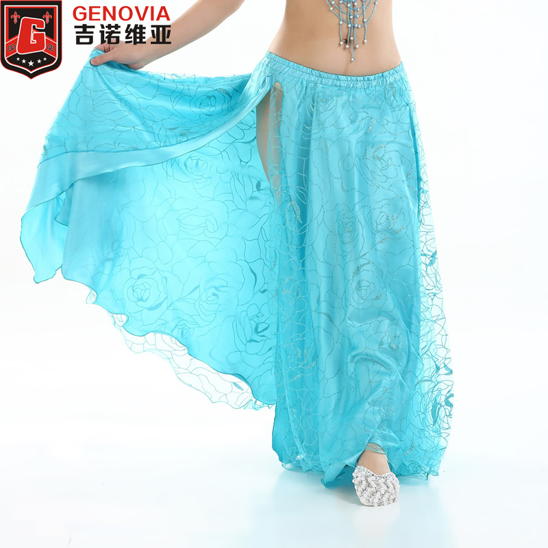 Women Performance Belly Dance Costumes Practice Club Stage Long Skirt Dress Modal Colour 4