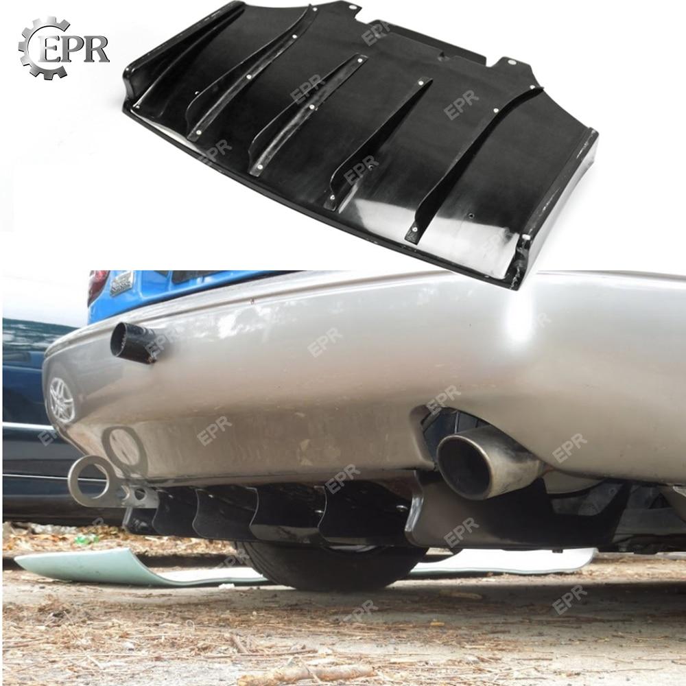 Para Mazda Miata Roadster MX5 ND JS Estilo FRP Rear Sob Difusor (Fin) fibra De Vidro Parte Tuning Guarnição Para MX5 NA Miata JS Difusor