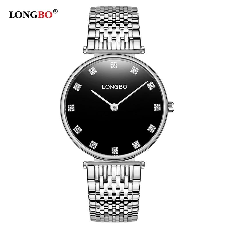 LONGBO Brand Fashion Lovers Watches Waterproof Stainless Steel Women Men Quartz Wristwatch Classic Couple Watch Reloj Gifts 5095