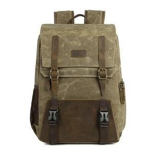 Image 2 - Careell 3059 حقيبة كاميرا جلدية حقائب الظهر سعة كبيرة ل 15.6 بوصة محمول حقيبة حمل لحقيبة السفر كاميرا فيديو رقمية