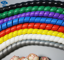 2M 12MM Spiral Wire Organizer Wrap Tube Flame retardant colorful spiral bands diameter Cable casing Cable Sleeves Winding pipe