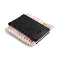 New Fashion Brand Genuine Leather Money Clip Purse Men Strong Magnetic High Quality Black Clip for Money Holder