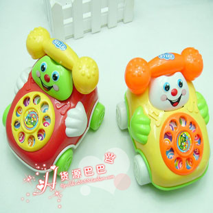 ring backguy smiley phone belt diabolo dial phone baby educational toys